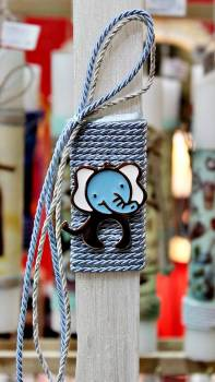 Πασχαλινή λαμπάδα 18104 Ελεφαντάκι γαλάζιο Ύψος 25