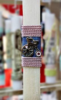 Πασχαλινή λαμπάδα 18105 Ποδήλατο ροζ Ύψος 25