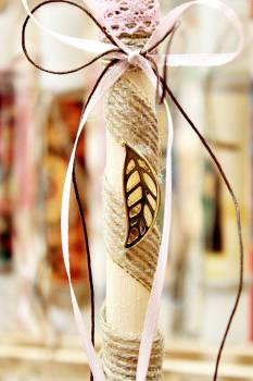 Πασχαλινή λαμπάδα 17071 Φύλλο χρυσό μικρό Ύψος 25