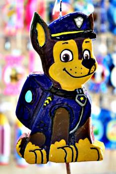 Πασχαλινή λαμπάδα Πλακέτα μπλε σκυλάκι 17.5x10x2cm