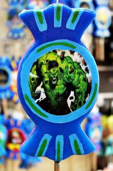 Καραμέλα print πράσινος άνθρωπος