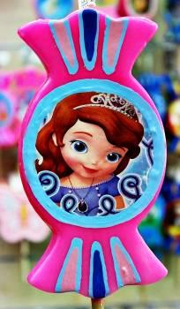 Πασχαλινή λαμπάδα Καραμέλα print κοριτσάκι πριγκίπισσα μικρή 19x10x2cm