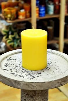 Αρωματικό κερί ματ με άρωμα Λεμόνι 8x10cm