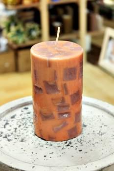 Κερί με κομμάτια και άρωμα μόκα 8x15cm