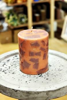 Κερί με κομμάτια και άρωμα μόκα 8x10cm