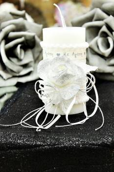 Χειροποίητο διακοσμητικό αρωματικό κερί ''Με Αγάπη'' 8x15cm