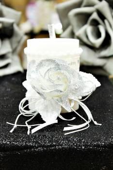 Χειροποίητο διακοσμητικό αρωματικό κερί ''Με Αγάπη'' 8x10cm