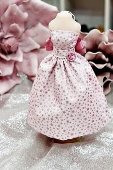20Β014 Φόρεμα ροζ με αστεράκια
