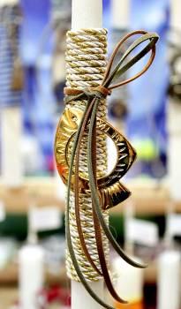 Πασχαλινή λαμπάδα 20010 χρυσό ψάράκι Ύψος 25
