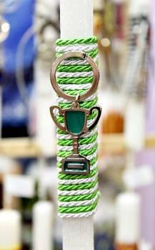 Πασχαλινή λαμπάδα 20014 μπρελόκ πράσινο κύπελο Ύψος 25