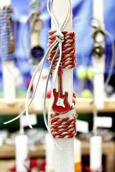 Πασχαλινή λαμπάδα 20017 μεταλλάκι ηλεκτρικη κιθάρα Ύψος 25