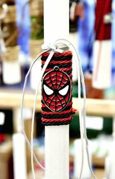 Πασχαλινή λαμπάδα 20029 μεταλλάκι τύπου spiderman Ύψος 25