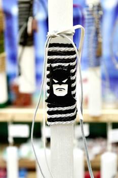 Πασχαλινή λαμπάδα 20030 μεταλλάκι τύπου batman Ύψος 25