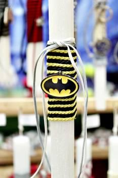 Πασχαλινή λαμπάδα 20031 μεταλλάκι logo batman Ύψος 25