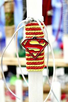 Πασχαλινή λαμπάδα 20032 μεταλλάκι logo superman Ύψος 25