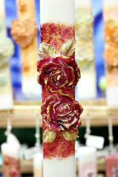 20ΝΤ007 διπλό τριαντάφυλλο κόκκινο