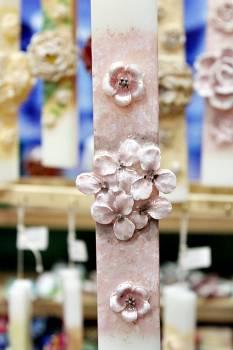Πασχαλινή λαμπάδα 20ΝΤ020 Λουλούδια Ροζ Ύψος 25