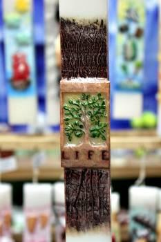 Πασχαλινή λαμπάδα 20ΝΤ039 Δέντρο ζωής Ύψος 25