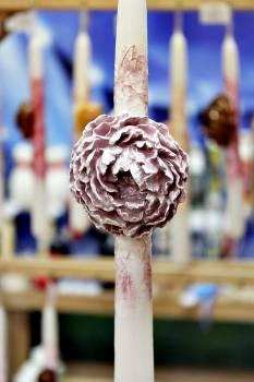 Πασχαλινή λαμπάδα 20ΝΤ059 Λαμπάδα Γαρύφαλλο Ροζ Ύψος 25