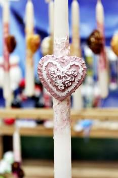 Πασχαλινή λαμπάδα 20ΝΤ061 Λαμπάδα Καρδιά Ροζ Ύψος 25