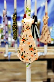 17Φ008 Σομόν φόρεμα σε λαμπάδα