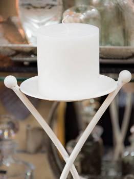 Κερί γάμου για κηροστάτη λευκό 10X10cm