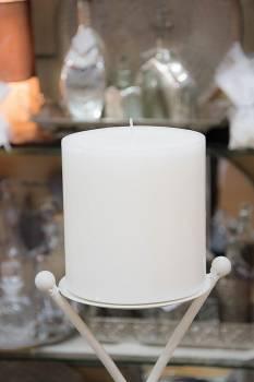 Κερί γάμου για κηροστάτη λευκό 14.5X15cm