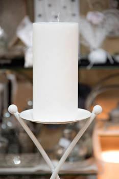 Κερί γάμου για κηροστάτη λευκό 10X20cm