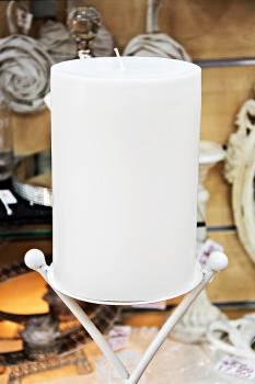 Κερί γάμου για κηροστάτη λευκό 14.5X20cm