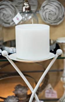 Κερί γάμου για κηροστάτη λευκό 11.5X10cm