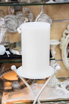 Κερί γάμου για κηροστάτη λευκό 11.5X20cm