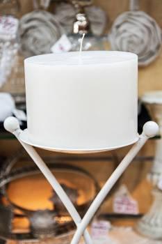 Κερί γάμου για κηροστάτη λευκό 14.5X10cm
