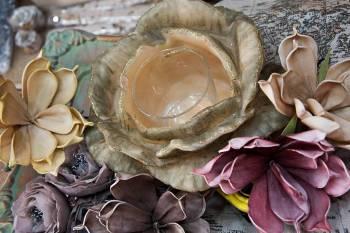 Τριαντάφυλλο 23x15 με ποτήρι ρεσό (Xbig)