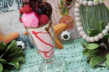 Κέρινο παγωτό μπάλες σε ποτήρι 10x26cm