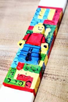 Πασχαλινή λαμπάδα 19Χ008 Lego 25x4x2cm