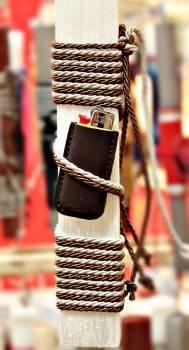 19Δ014 σκούρο καφέ θήκη αναπτήρα  vegan eco leather