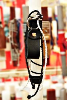 19Δ017 μπρελόκ θηλιά μαύρο vegan eco leather