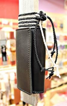 19Δ019 πορτοφόλι κλειδοθήκη μαύρο vegan eco leather