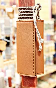 19Δ020 πορτοφόλι-κλειδοθήκη καμηλό vegan eco leather