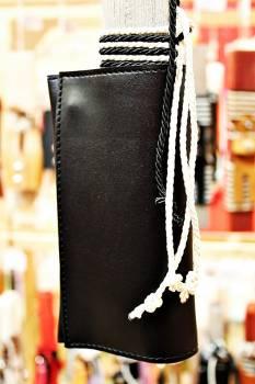 19Δ021 καπνοθήκη μαύρη vegan eco leather