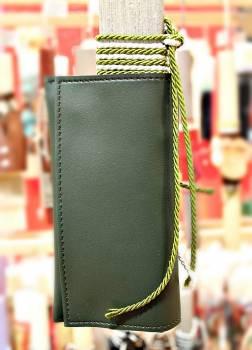 19Δ022 καπνοθήκη πράσινη vegan eco leather