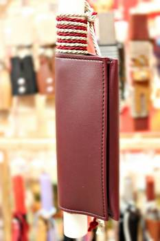 19Δ024 καπνοθήκη μπορντό vegan eco leather