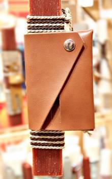 19Δ025 πορτοφόλι καφέ vegan eco leather
