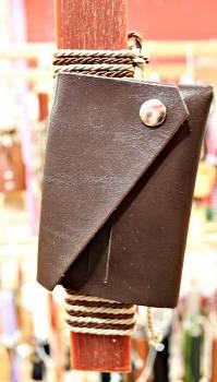 19Δ026 πορτοφόλι σκούρο καφέ vegan eco leather