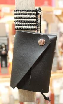 19Δ027 πορτοφόλι μαύρο vegan eco leather