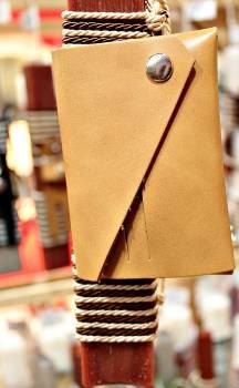 19Δ028 πορτοφόλι καμηλό vegan eco leather