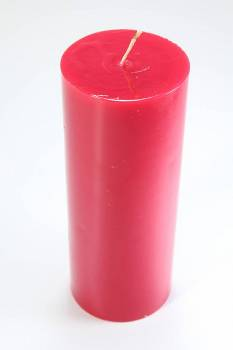 Γυαλιστερό κόκκινο κερί με άρωμα κεράσι 8x20cm