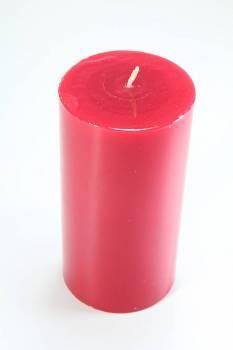 Γυαλιστερό κόκκινο κερί με άρωμα κεράσι 8x15cm