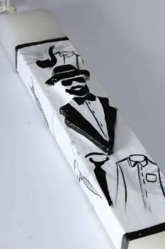 17Χ003 Ασπρόμαυρος άντρας 25x4x2cm