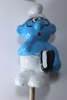 Πασχαλινή λαμπάδα Μπλε ανθρωπάκι με βιβλίο 3D 12x7x5cm